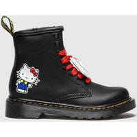 'Dr Martens Black & White 1460 Hello Kitty Boots Toddler