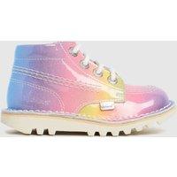 Kickers Multi Hi Rainbow Lthr Boots Toddler