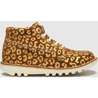 Kickers Tan Hi Leopard Boots Toddler