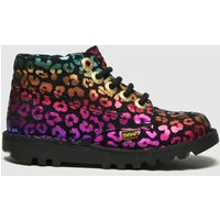 Kickers Black & Pink Hi Leopard Boots Toddler