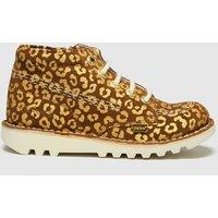 Kickers Tan Hi Leopard Boots Junior