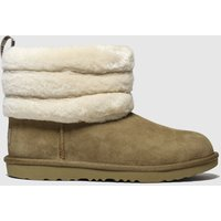 UGG Tan Fluff Mini Quilted Boots Youth