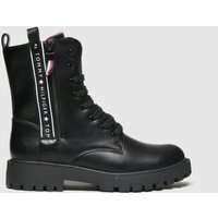 Tommy Hilfiger Black Lace-up Boot Boots Youth