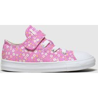 Converse Pink 1v Lo Floral Trainers Toddler