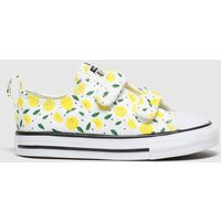 Converse White & Yellow All Star 2v Lo Fruits Trainers Toddler