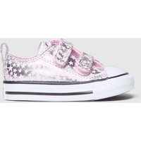 Converse Silver All Star 2v Lo Shes A Star Trainers Toddler