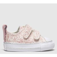 Converse Pale Pink 2v Lo Glitter Trainers Toddler