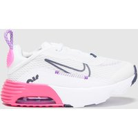 Nike White & Pink Air Max 2090 Trainers Toddler