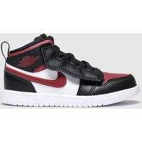 'Nike Jordan Black & Red Air Jordan 1 Mid Trainers Toddler