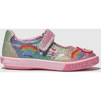 Lelli Kelly Pink & Blue Rainbow Sparkle Shoes Junior