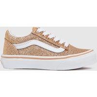 Vans Gold Old Skool Glitter Trainers Junior