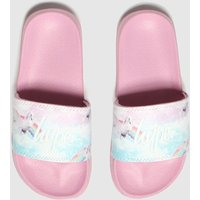 Hype Pink Pink Unicorn Slider Sandals Youth