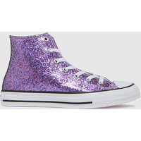 Converse Pink Hi Glitter Trainers Youth