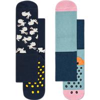 Kids 2-Pack Bunny Anti-Slip Socks