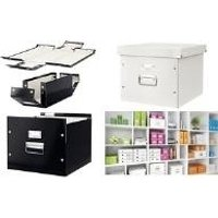 LEITZ Archiv-/Transportbox Click & Store, schwarz Archiv-Hängebox für ca. 50 Hängeakten DIN A4, einfacher (6046-00-95)
