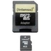 Intenso - Flash-Speicherkarte (microSDHC/SD-Adapter inbegriffen) - 4GB - microSDHC (3403450)