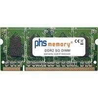 PHS-memory 1GB RAM Speicher für Asus X5DAD DDR2 SO DIMM (SP135592)