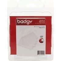 Pack de 100 cartes PVC blanches (CBGC0030W)