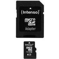Intenso - Flash-Speicherkarte (microSDHC/SD-Adapter inbegriffen) - 4GB - Class 10 - microSDHC (3413450)