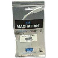 Manhattan - DisplayPort-Adapter - Mini DisplayPort (M) bis DVI-I (W) - geformt - Schwarz