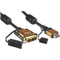 DINIC 2m HDMI/DVI-D 2m DVI-D HDMI Schwarz (HDMI-DVI-2HQ)