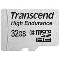 Transcend High Endurance - Flash-Speicherkarte (microSDHC/SD-Adapter inbegriffen) - 32GB - Class 10 - SDHC (TS32GUSDHC10V)
