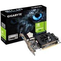 Gigabyte GV-N710D3-2GL - Grafikkarten - GF GT 710 - 2GB DDR3 - PCIe 2,0 x8 Low Profile - DVI, D-Sub, HDMI (GV-N710D3-2GL)