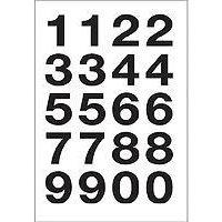 HERMA Numbers 20x18mm 0-9 weatherproof film transp. black 2 sh. Selbstklebendes Symbol (4136)