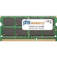 PHS-memory 4GB RAM Speicher für Asus Pro Advanced B53J-SO149X DDR3 SO DIMM 1066MHz (SP135993)