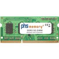 PHS-memory 2GB RAM Speicher für Asus Pro Advanced B53J-SO149X DDR3 SO DIMM 1066MHz (SP135992)