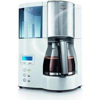 Melitta Optima Timer ws Kaffeemaschine Weiß Fassungsvermögen Tassen=12 Display, Timerfunktion, Warmhaltefunktion (100801 wh)