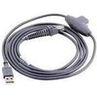 Datalogic USB-Kabel USB-Anschlusskabel, glatt, grau, 2m, passend für alle Handscanner (90A051902)