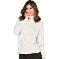 Women's Ladies long sleeve cable knit textured roll neck cosy jumper