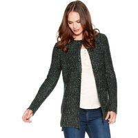 Women's Ladies Long sleeve thick ribbed knit front pockets open Edge to edge cardigan