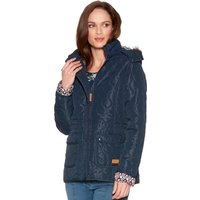 Women's Trespass ladies long sleeve funnel neck hooded insulated padded jacket