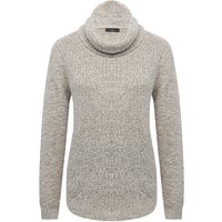 Women's Ladies long sleeve thick tibbed knit high roll Cowl neck jumper