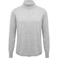 Women's Ladies pink long sleeve pull on soft cashmere roll neck winter jumper