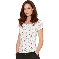 Women's Ladies cotton jersey short sleeve ice cream Sundae print scoop neck t-shirt
