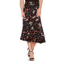Women's Ladies High waist Midi length ditsy Floral print a line frill flippy skirt