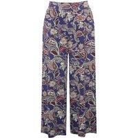 Women's Ladies stretch jersey high elasticated waist cropped floral Paisley print culottes