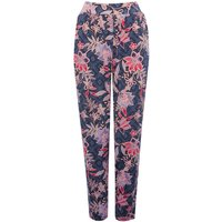 Women's Ladies Soft stretch High elasticated waist Floral print tapered leg harem trousers
