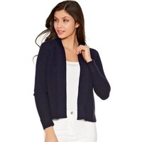 Women's Ladies long sleeve open front ribbed edge to edge cardigan