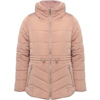 Women's Ladies long sleeve funnel neckline Short padded coat with detachable hood