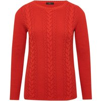 Women's Ladies long sleeve crew neck textured Cable knit jumper