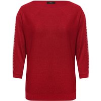 Women's Ladies shimmer knit batwing jumperwith sleeve stud detail