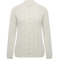 Women's Ladies long sleeve high neck soft cable knit Chenille jumper