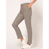 Women's Ladies heritage check slim leg tapered trousers