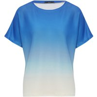Women's Ladies ombre top short sleeve round neck soft stretch fabric gradient