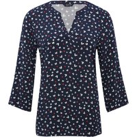 Women's Ladies Spirit navy butterfly print shirt