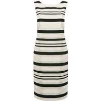 Women's Ladies Jacquard Stripe Shift Dress
